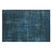 FEEL - Tappeto in jacquard blu anatra 155 cm x 230 cm
