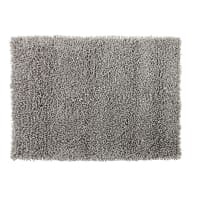 Tappeto in lana e cotone grigio effetto shaggy, 140x200 cm Hygge