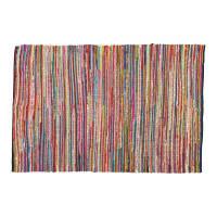 ROULOTTE - Tappeto intrecciato multicolore in cotone 140 x 200 cm