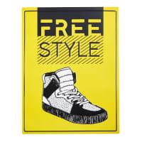 Targa da parete in metallo gialla Shoes Hype