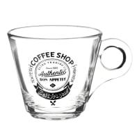Tasse à café en verre Coffee Shop