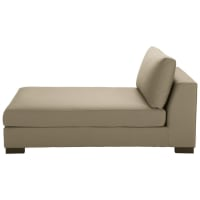 Taupe Cotton Modular Chaise Longue Terence