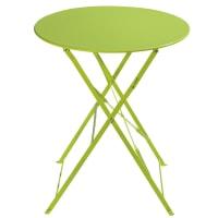 Tavolo pieghevole verde anice da giardino in metallo D 58 cm Guinguette