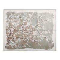 NORA - Tela in lino stampa floreale, 152x122 cm