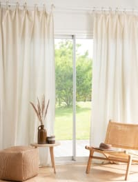 NOVALE - Tenda con fiocchi in cotone bio beige 140x270 cm al pezzo