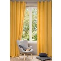 Tenda in lino lavato giallo, al pezzo, 130x300 cm