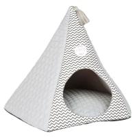 Tenda per gatto grigia con motivi a spina di pesce Club Cat