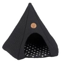 Tenda per gatto grigio scuro stampato Club