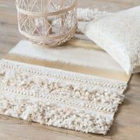 Teppich aus Baumwolle mit goldfarben bedrucktem Gewebe 50x80 Lux