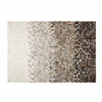 SQUARU - Teppich aus Vacheleder und Wolle 140x200