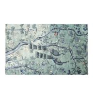 Teppich in Grün und Taupe mit Naturdruck 150x240 Orphee