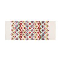 PONDICHERY - Teppich mit buntem Ethno-Muster bedruckt 80x200