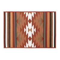 Terracotta Outdoor Rug with Graphic Print 133x200 Pria