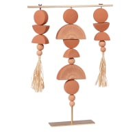 KASSOVIA - Terractotta and gold ornament H40cm