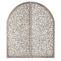 Tête de lit 140 en bois sculpté Indore