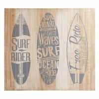 Tête de lit 140 en pin et sapin imprimé Surfing