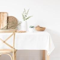 ELDORET - Tischdecke aus Baumwolle, weiß, 150x350cm