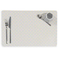 Tischset aus Kunststoff, grau, 28x43 Graphic