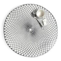 Tischset rund , D 38cm, silbern Noho