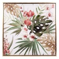 ORCHIDIA - Toile décor tropical multicolore 62x62