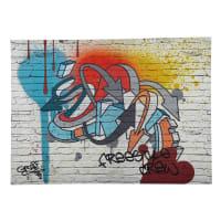 Toile graffiti multicolore 80 x 110 cm Freestyle