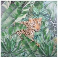 Toile imprimé léopard 80x80