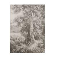Toile imprimé paysage noir et blanc 115x200 Honorine
