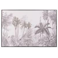 Toile jungle noir et blanc 75x50