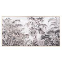 Toile jungle noire et blanche 43x95 Jungle Safari