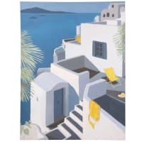 Toile paysage grec 65x85 Santorin