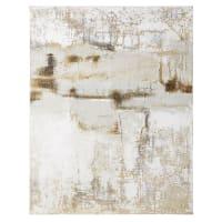 CHESTER - Toile peinte à relief 120x150