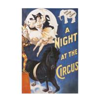 Toile peinte cirque 80x120 Medrano