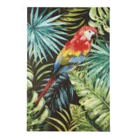 Toile peinte perroquet 93x140 Pessoa