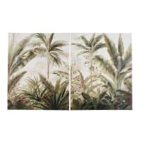 Toiles imprimé paysage tropical 160x100 (x2)