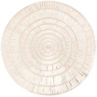 PRISMA - Lotto di 4 - Tovaglietta rotonda dorata traforata