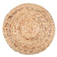 Lotto di 2 - Tovaglietta rotonda in fibra vegetale intrecciata