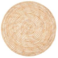 Tovaglietta traforata in fibra di palma intrecciata