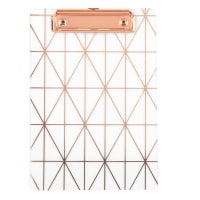 Transparent Document Holder with Copper Graphic Print