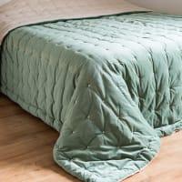 Trapunta in velluto piqué verde, 240x260