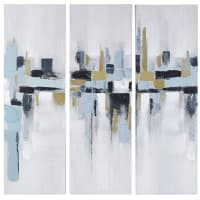KENT - Triptychon aus Leinen, bunt 50x150
