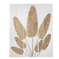 ROTTERDAM - Triptychon aus Paulownienholz, zweifarbig, 119x150cm