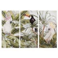 TRINIDAD - Triptyque en toile imprimé tropical 270x190