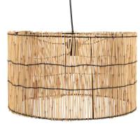 Trommelförmige Hängeleuchte aus Bambus