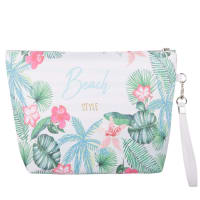 Trousse bianca stampa tropicale Beach Style