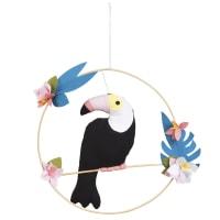 Tukanfigur zum Aufhängen aus Baumwolle H31 Abby