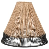 VOLCAM - Two-tone jute pendant light lampshade