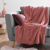 Überwurf aus Kunstfell, rosa 150x230