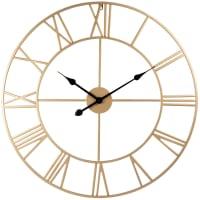 SCARLETT - Uhr aus goldfarbenem Metall, D70cm