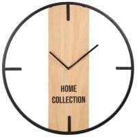 KARL - Uhr, beige und schwarz, D50cm