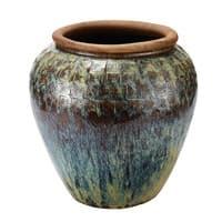 Vase d'extérieur en terre cuite motifs sculptés H73 Epices